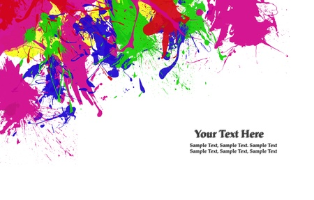 paint color: abstract water color splash on white background
