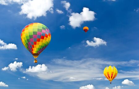 colorful hot air balloon against blue sky Stock Photo - 8820396