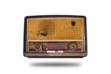 old vintage radio isolated on white background Stock Photo - 8820429