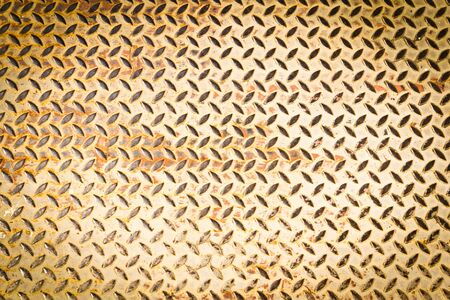 rusted: diamon steel plate texture for background