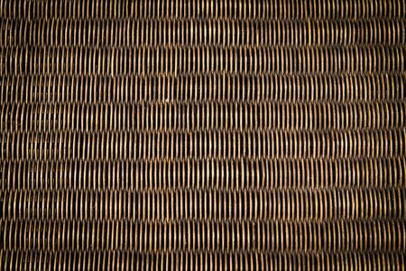 rattan mat: black rattan wood texture Stock Photo