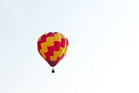 colorful hot air balloon against blue sky Stock Photo - 8820300