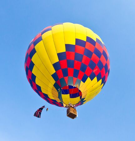 colorful hot air balloon against blue sky Stock Photo - 8820311