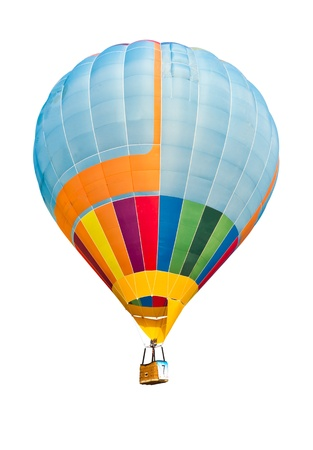 colorful hot air balloon isolated on white background Stock Photo - 8820302