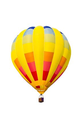 colorful hot air balloon isolated on white background Stock Photo - 8820292