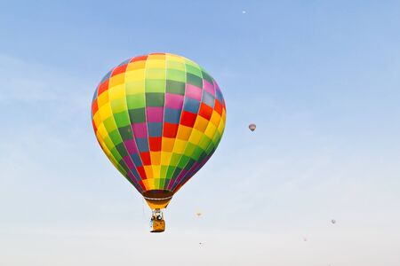 colorful hot air balloon against blue sky Stock Photo - 8820317