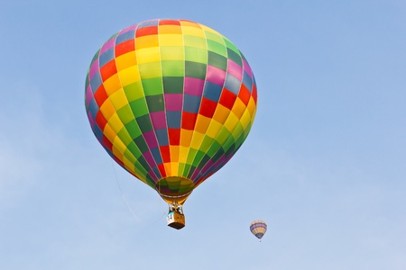 colorful hot air balloon against blue sky Stock Photo - 8820398