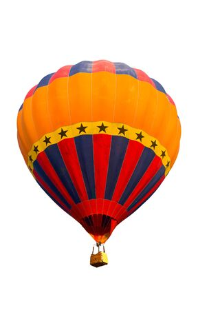 colorful hot air balloon isolated on white background Stock Photo - 8820329