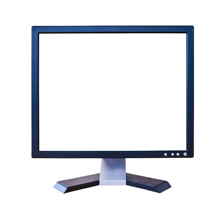 LCD Monitor with blank screen isolated photo