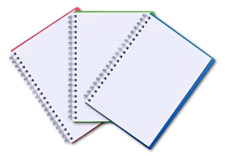 set of color notebook isolated on white background Stock Photo - 9055647