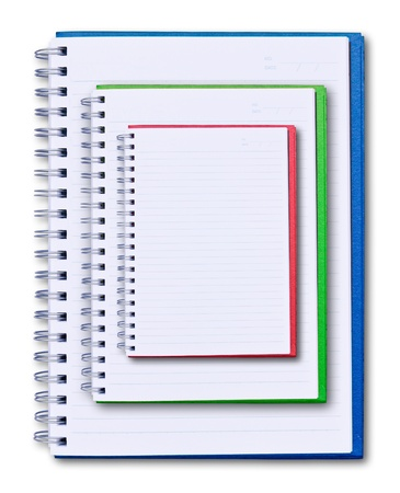 set of color notebook isolated on white background Stock Photo - 9055587