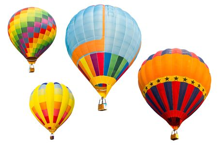 set of colorful hot air balloon isolated on white background Stock Photo - 9055618