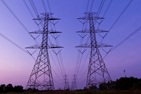 electric high voltage power post photo