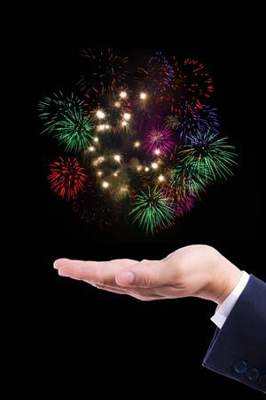 firework on hand Stock Photo - 9218085