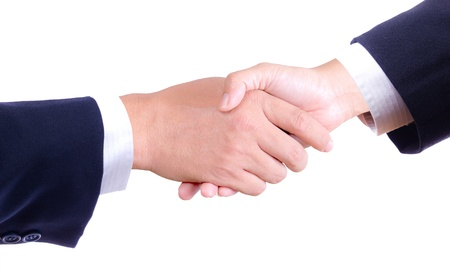 business hand shaking isolated photo