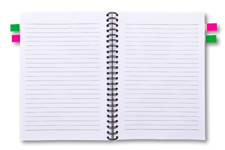 Notebook isolated on white background Stock Photo - 9456586