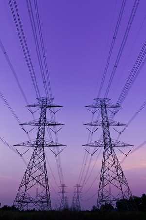 electric utility: electrical high voltage power pylon