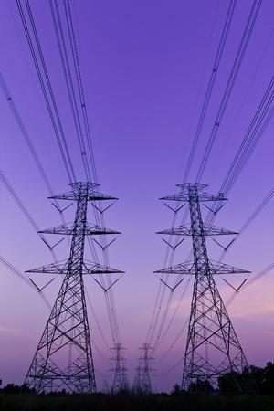 elektrische hoog voltage power pyloon Stockfoto