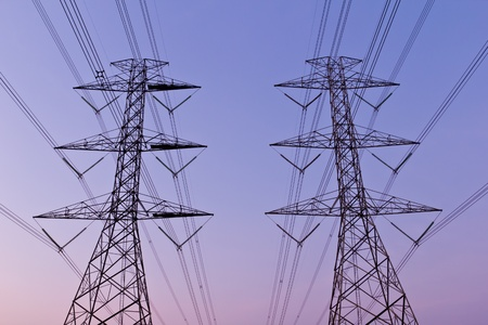 electrical high voltage power pylon photo