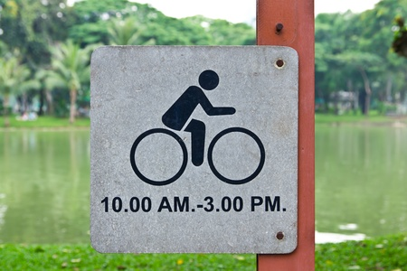 bicycle allow sign in park photo