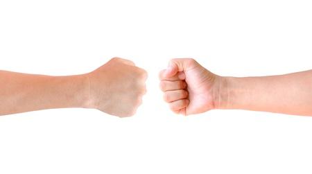 revolt: fist hand isolated Stock Photo