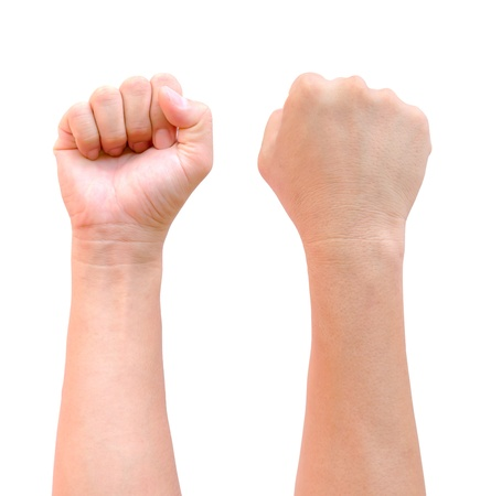 communist: fist hand isolated Stock Photo