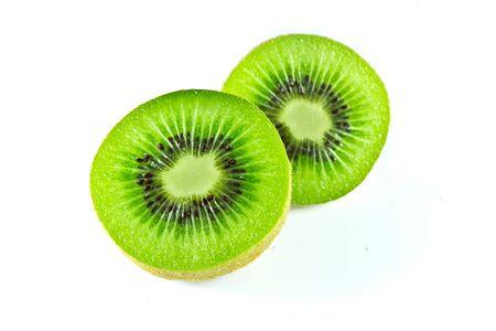 kiwi's op witte achtergrond Stockfoto
