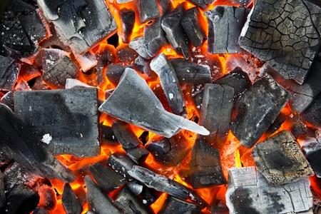 Kolen in het vuur Stockfoto - 9998606