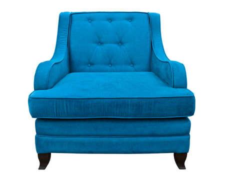 blue sofa isolated on white background Stock Photo - 9997963