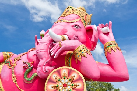 embark: pink ganesha, number one largest statue in Thailand