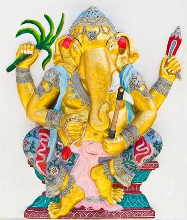 Indian or Hindu God Named Yoga Ganapati , temple in thailand photo
