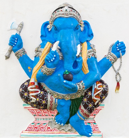 embark: Indian or Hindu God Named Ekdanta Ganapati at temple in thailand