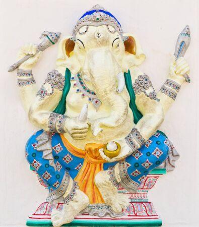 siddhivinayaka: Indian or Hindu God Named Haridra Ganapati at temple in thailand Stock Photo