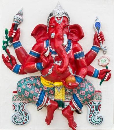 ganapati: Indian or Hindu God Named Kasipa Porasada Ganapati at temple in thailand