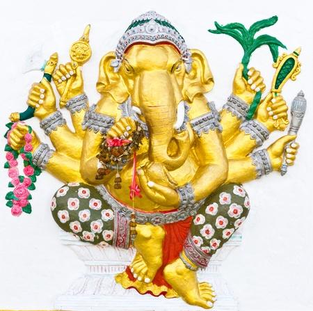 Indian or Hindu ganesha God Named Vighna Ganapati at temple in thailand photo