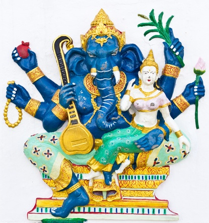 Indian or Hindu ganesha God Named Uchchishta Ganapati at temple in thailand photo