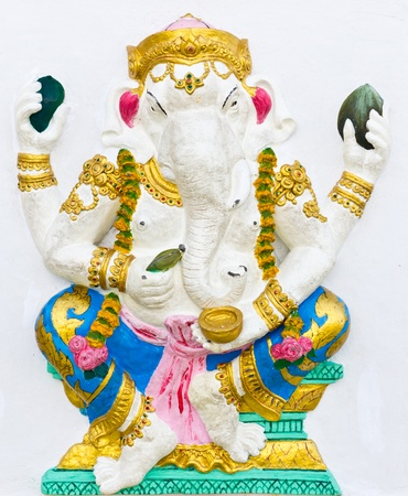 embark: Indian or Hindu ganesha God Named Bhakti Ganapati at temple in thailand