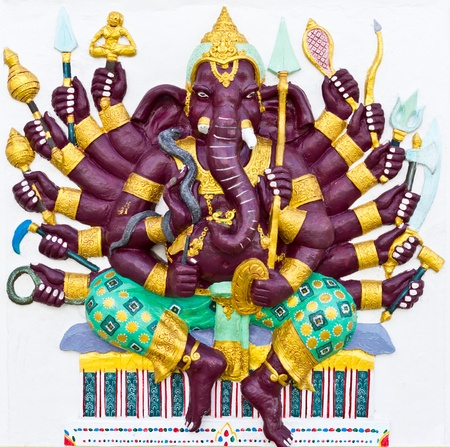 embark: Indian or Hindu ganesha God Named Vira Ganapati at temple in thailand