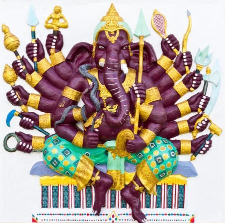 lord: Indien ou hindou ganesha Dieu nommé Vira Ganapati au temple en Thaïlande Banque d'images