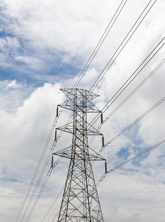 Electricity high voltage pylon photo
