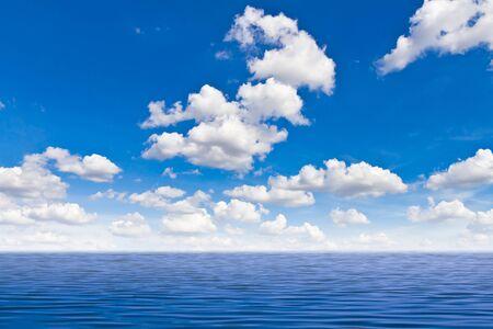 rippled: beautiful sea and blue sky Stock Photo