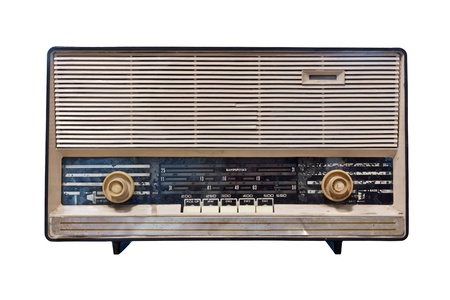 vintage radio isolated with clipping path photo