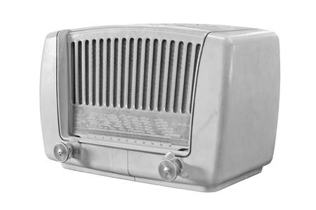 transistor: vintage radio isolated on white background