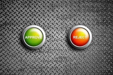 assentiment: approuver et de rejeter le bouton sur la texture d'acier diamant