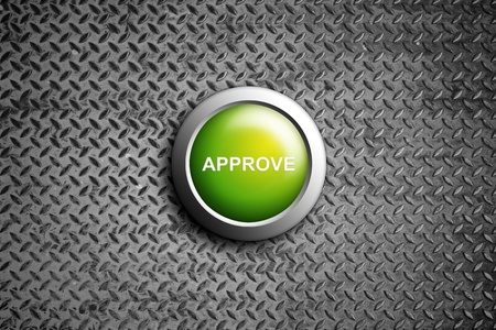 approve button on diamond steel texture Stock Photo - 11201795