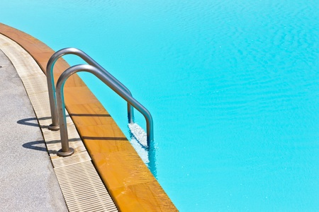 house float on water: swimming pool ladder