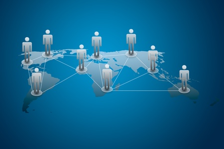 sociologia: concepto de red social Foto de archivo