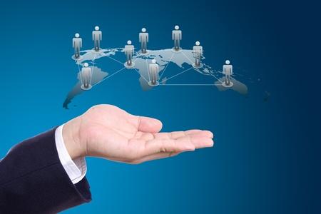 sociologia: concepto de red social en la mano