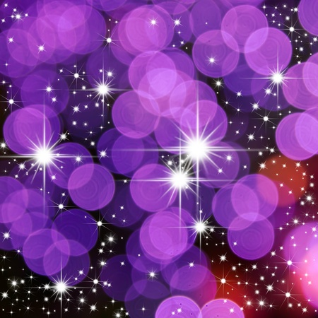 bright star and purple round light for web background photo