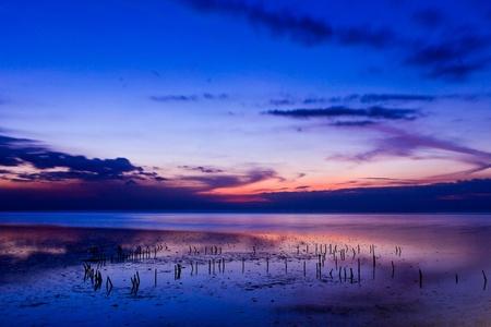 beautiful sea in twilight